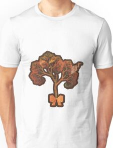 Beautiful Fractal Collage of an Endless Origami Autumn Unisex T-Shirt