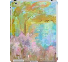 Abstract Landscape Painting Tree Flowers iPad Case/Skin