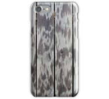 spotted wooden fence   iPhone Case/Skin