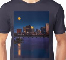 Rising super moon in Boston. Unisex T-Shirt