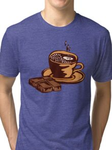 cup of coffee with chocolate Tri-blend T-Shirt