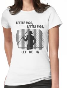 The Walking Dead Little Pigs Negan Womens Fitted T-Shirt