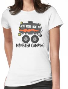 Monster Camping RV Womens Fitted T-Shirt