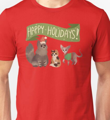 Holiday Cats! Unisex T-Shirt