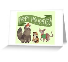 Holiday Cats! Greeting Card