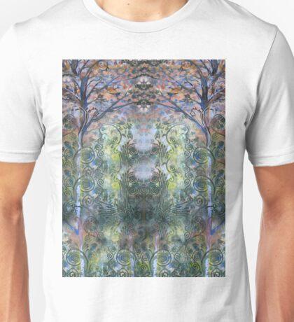 Blue Fiddlehead Unisex T-Shirt