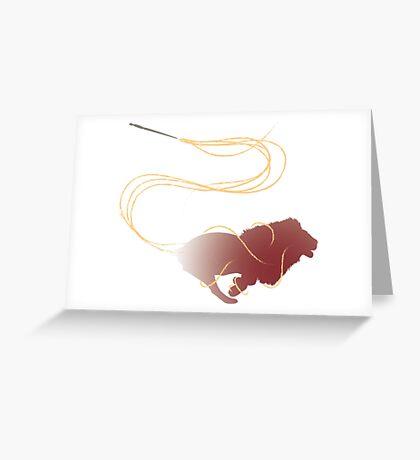 Expecto Patronum Golden Lion Greeting Card