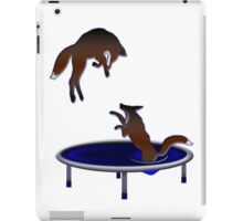 trampolining foxes iPad Case/Skin