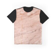 Rose-Gold Marble Graphic T-Shirt