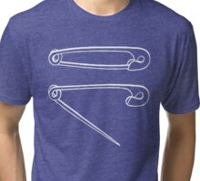 Safety Pins Open and Secure  Tri-blend T-Shirt