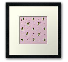 Nii Pattern-Pink Framed Print