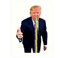 Trump Barfing Rainbow Art Print