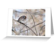 Hiding ~ Tree Sparrow Greeting Card