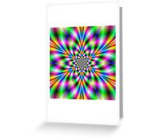 Star in Neon Lights Greeting Card