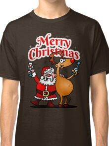 Merry Christmas - Santa Claus and his Reindeer Classic T-Shirt