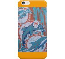 miami dolphins logo evolution iPhone Case/Skin