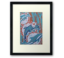 miami dolphins logo evolution Framed Print