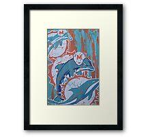 miami dolphins logo evolution Framed Print