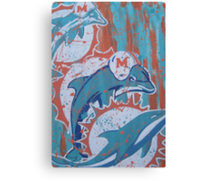 miami dolphins logo evolution Canvas Print