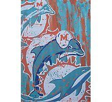 miami dolphins logo evolution Photographic Print
