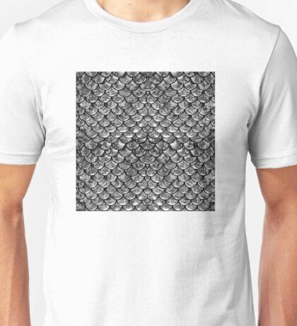 Mermaid Scales - Silver Unisex T-Shirt