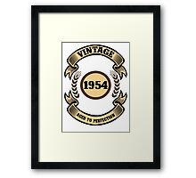 Vintage 1954 Aged To Perfection Framed Print