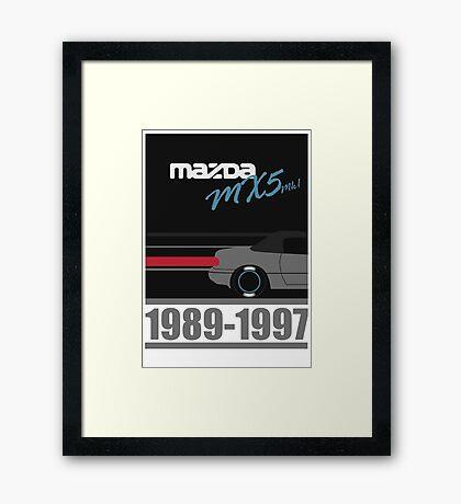 Mk1 Mazda MX5 Framed Print