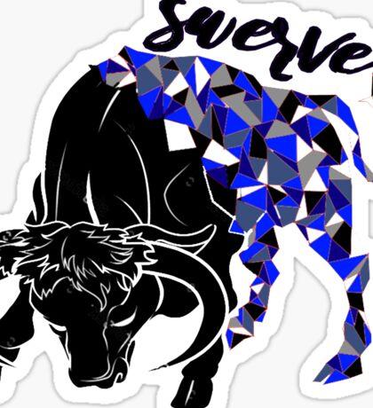 Swerve Bull Sticker