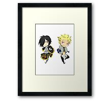 Sting and Rogue Chibi Framed Print