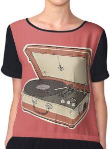 Vintage Record Player Chiffon Top