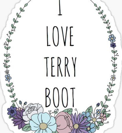 I LOVE TERRY BOOT Sticker