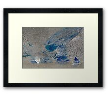 Spilled Paint Abstract Framed Print