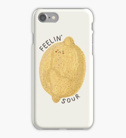 feelin' sour iPhone Case/Skin