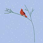 Cool Cardinal Night by redqueenself