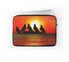 Birds at Sunset point Laptop Sleeve