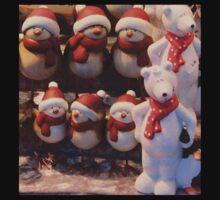 Christmas design #3 Robins & Polar Bears Kids Tee