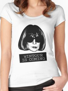 Wintour Is Coming Women's Fitted Scoop T-Shirt