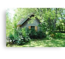 Country Garden Shed Canvas Print