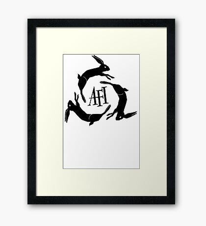 AFI Black T-shirt Sz S, M, L, XL, XXL Framed Print