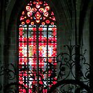 Modern glass art in a gothic frame by bubblehex08