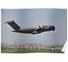 Military Transport on Takeoff Poster