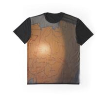 Map Of Europe In The Briefing Room Of The American Airpower Museum | Farmingdale, New York Graphic T-Shirt