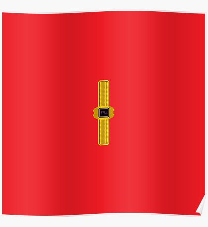 Trill Gold Watch Cartoon - Engine Red Poster