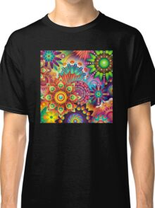 Psychedelic Colorful Bloom Classic T-Shirt