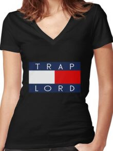 Trap Lord Women's Fitted V-Neck T-Shirt