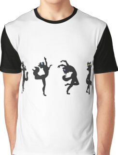 Eclipse Dance (Cat Anthro Silhouettes) Graphic T-Shirt