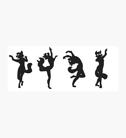 Eclipse Dance (Cat Anthro Silhouettes) Photographic Print