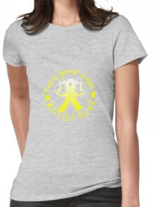 Pain Into Power - Yellow Womens Fitted T-Shirt