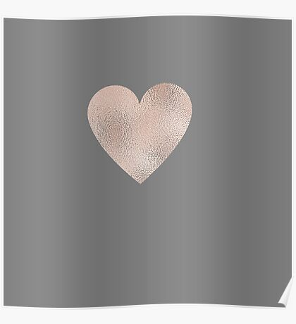 Rose Gold Hearts Poster