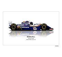 Damon Hill - Williams FW16B -  Photographic Print